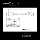 CF-66-005-WE: WHITEFLEX Câble FireWire 400 6 vers 6 broches blanc + flexible 50cm